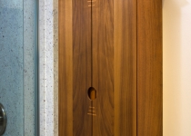 walnut bathroom wall cabinet