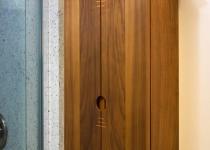 walnut bathroom wall cabinet
